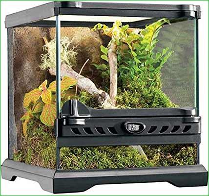Terrario para iguana - mediano - Exo Terra Nano Glass Terrarium Reptile Habitat
