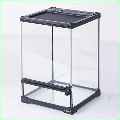 Terrario para iguana - pequeño - Mini terrario de reptiles ReptiZoo de vidrio